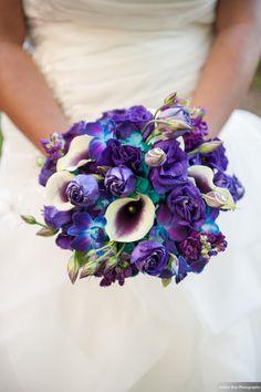 and held at 2941 Restaurant in Falls Church, Virginia. Purple Wedding Arrangements, Wedding Flowers, Falls Church, Free Wedding, Floral Design, Reception, Bridal Bouquets, Virginia, Restaurant