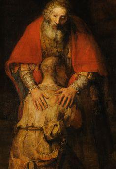 Rembrandt van Rijn, Return of the Prodigal Son (detail), 1665