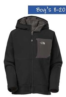 The North Face Chimborazo Fleece Jacket in Black for Boys A7AS-CBG