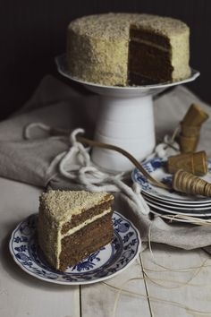 St[v]ory z kuchyne | Wallnut Cake with Nutella and Vanilla Filling