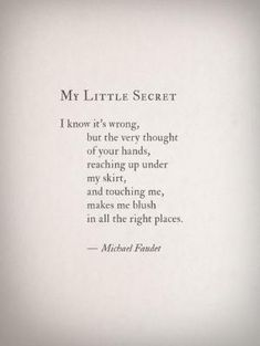 Erotic poems to my wife