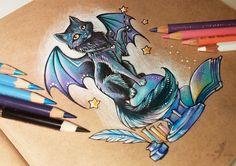 Magic black cat by AlviaAlcedo.deviantart.com on @DeviantArt