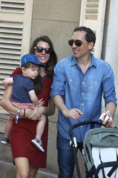 beautifulcharlotte:  Charlotte Casiraghi and partner Gad Elmaleh with their son Raphaël in St Tropez, June 5, 2015
