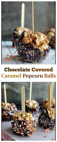 Chocolate Covered Caramel Popcorn Balls - Super easy to make and my ...