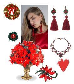 """Christmas Star collection available on Yaroslavna.com"" by yaroslavna-dobryanskaya on Polyvore featuring мода, National Tree Company и Aime"
