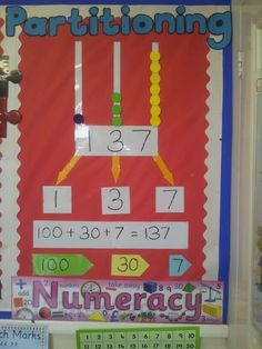Australian Curriculum - - Apply place value to partition, rearrange & regroup numbers to at least tens of thousands- Can easily be adjusted to meet your year level! Maths 3e, Ks1 Maths, Primary Maths, Numeracy, Maths Working Wall, Math Wall, Working Wall Display, Year 1 Classroom, Year 1 Maths