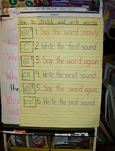 stretching the word anchor chart