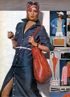 1970s Fashion...Marcy head scarf entering
