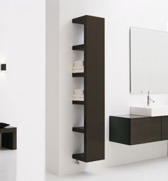 would be an interesting ikea hack to flip the lack shelves around and mirror the outside. entryway?
