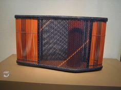 Contemporary Japanese bamboo basket