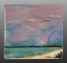 Fused Glass Seascape by Alice Benvie Gebhart