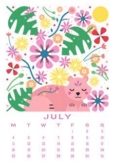 Carly Watts Art & Illustration: Free Printable: July Calendar