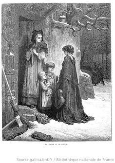 Illustration de Gustave Doré, La Cigale et la Fourmi (La Fontaine)