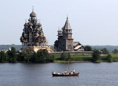 Church of the Transfiguration – Kizhi Island, Karelia, Russia – built without nails.