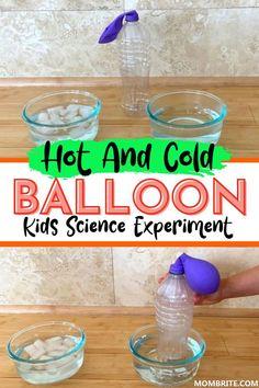 Balloon Science Experiments, Science Experiments For Preschoolers, Preschool Science Activities, Science Projects For Kids, Science Experiments For Toddlers, Kindergarten Science Experiments, Steam Activities, Science For Toddlers, Summer Science