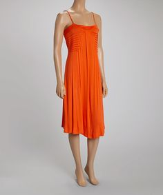 Loving this Coral Ruffle Sleeveless Dress on #zulily! #zulilyfinds