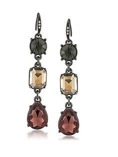 ABS by Allen Schwartz Jewelry Black Magic Linear Crystal Drop Earrings