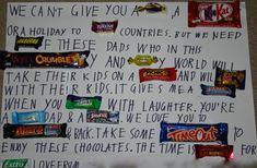 Great last minute Father's day gift idea for the kids to make see www.angathome.com Father's Day Christmas birthday gift present home-made kids children easy cheap quick last minute activity create chocolates message card Australian version