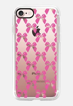Casetify iPhone 7 Case and Other iPhone Covers - PINK BOWS by KANIKA MATHUR | #Casetify 31m