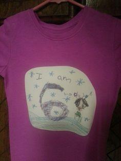 She made her own birthday shirt!!!