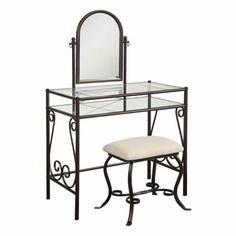 Clarisse Metal Vanity Set (Vanity Tables and Sets - Vanity Set)