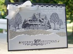 SUO Christmas Lodge Scene by myfairlady2511 - Cards and Paper Crafts at Splitcoaststampers