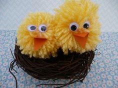 Easter pom pom chicks #easter #eastercrafts #eastercraftsforkids