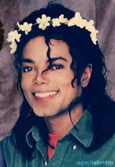 I know I've pinned this before, but... It's Michael Jackson in a flower crown.. So...