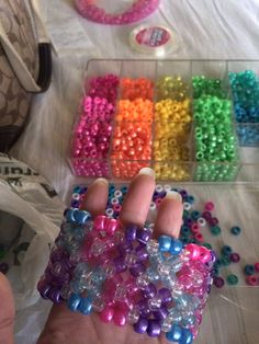 Double xbase kandi cuff for a plur package Pony Bead Bracelets, Kandi Bracelets, Pony Beads, Kandi Patterns, Perler Patterns, Beading Patterns, Diy Arts And Crafts, Bead Crafts, Pony Bead Projects