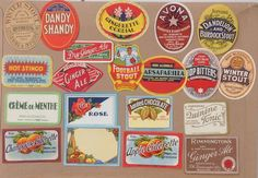COLLECTION 20 OLD ENGLISH SOFT DRINK or POP LABELS new selection Pack #1 | eBay