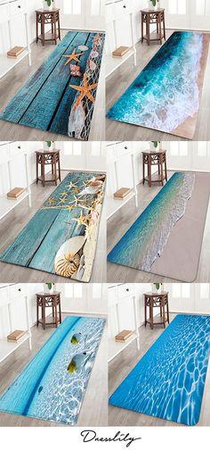 Bath rugs are essential - bath mats make cold tile floors comforta.Bath rugs are essential – bath mats make cold tile floors comfortable and help to prevent sli Bath Mats, Beach House Decor, Coastal Decor, Home Projects, Home Improvement, New Homes, Room Decor, House Design, Flooring