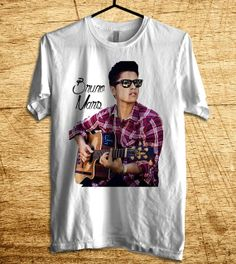 Bruno Mars Playing Guitar T Shirt Bruno Mars T Shirt  by MalaAkfa, $18.00