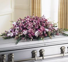 casket sprays lavender and wine tones (this is actually very beautiful, even in this color)