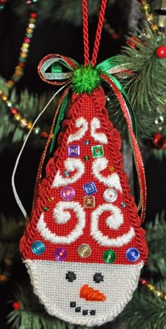 Needlepoint Christmas Ornament - Snow Cones - Dazz! | your-craft.co