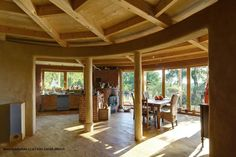 Round straw-bale cob house in our Czech Republic.