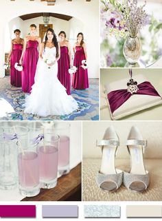 sangria lavender and silver wedding color ideas for 2015 trends