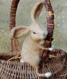 Basket Bunny - Tan and White via Etsy.