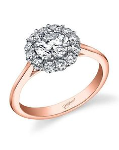 Engagement Rings : Illustration Description Coast Diamond engagement ring with halo of round diamonds I Style: LC5205 I Rose Gold Collection I www.theknot.com/… -Read More – - #WeddingRings https://adlmag.net/2018/01/02/engagement-rings-coast-diamond-engagement-ring-with-halo-of-round-diamonds-i-style-lc5205-i-rose/