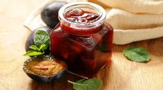 Plum Preserves, Dessert Recipes, Desserts, Dessert Food, Jam Jar, Salsa, Tasty, Organic, Homemade