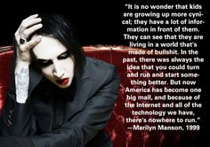 He's right. Completely the reason I'm a cynic.