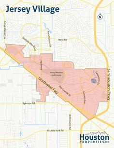 Jersey Village Neighborhood Map