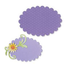 """Ovals, Scallop #3 [656337] - Sizzix BigZ Die - Measuring 5 1/2"""" x 6"""", this BigZ die requires the use of a pair of Cutting Pads. The die-cut shapes measure approximately 2 7/8"""" x 2"""" and 3 5/8"""" x 2 1/2""""."""