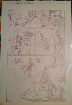 "Pencils from ""Convergence: Adventures of Superman"" # 2, page 3. Superman, Supergirl and Lucius Fox against Phantom Zone Villains. Comic art for Sale. you can contact me at rjviacava@gmail.com"