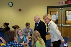 Tammy & Senator Herb Kohl meeting students at UW-Eau Claire