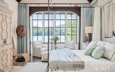 Atlanta Homes & Lifestyles - Lake Burton- bedroom- blue bedroom Blue Bedroom, Master Bedroom, Master Suite, Studio Interior, Interior Design, Interior Architecture, Color Interior, Enchanted Home, Atlanta Homes