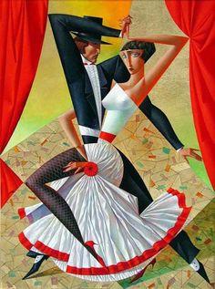 20 Vibrant Cubist Art works and Illustrations by Georgy Kurasov