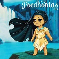 #Pocahontas #Selva #Princesas #Disney #Chibi