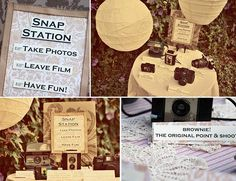 I am definitely going to do this at my wedding. I already have some of these cameras so I'm already halfway done with this DIY project.