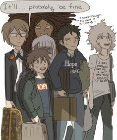 The survivors apply for Hope College. (Mygosh, Komaeda's T-shirt!! xD )