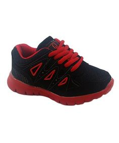 78b9dd1d73f2 Love this Black  amp  Red Two-Tone Sneaker - Boys on  zulily!